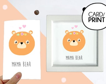 Cute Mothers Day card first mothers day card mum birthday card funny mothers day gift for mom card for mom new mom card bear