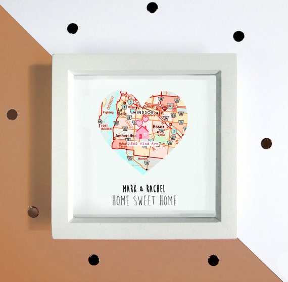 Personalised New Home Print, Map Housewarming Gift, Personalised Moving Gift, New Home Gift, New Home Card, First Home Gift, New Flat, Condo by Etsy