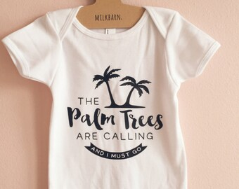 PALM TREES baby onesie romper / baby bodysuits