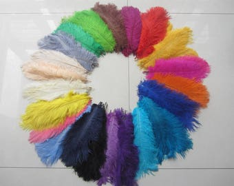 100  ostrich feathers for handmade items feather centerpiece,hat,fascinator,millinery