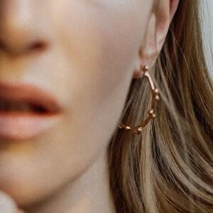 Ancient Earrings Pamela Card Statement Earrings Roman Jewelry 24K Gold Plated Earrings Gold Hoop Earrings Armour Amour Earrings
