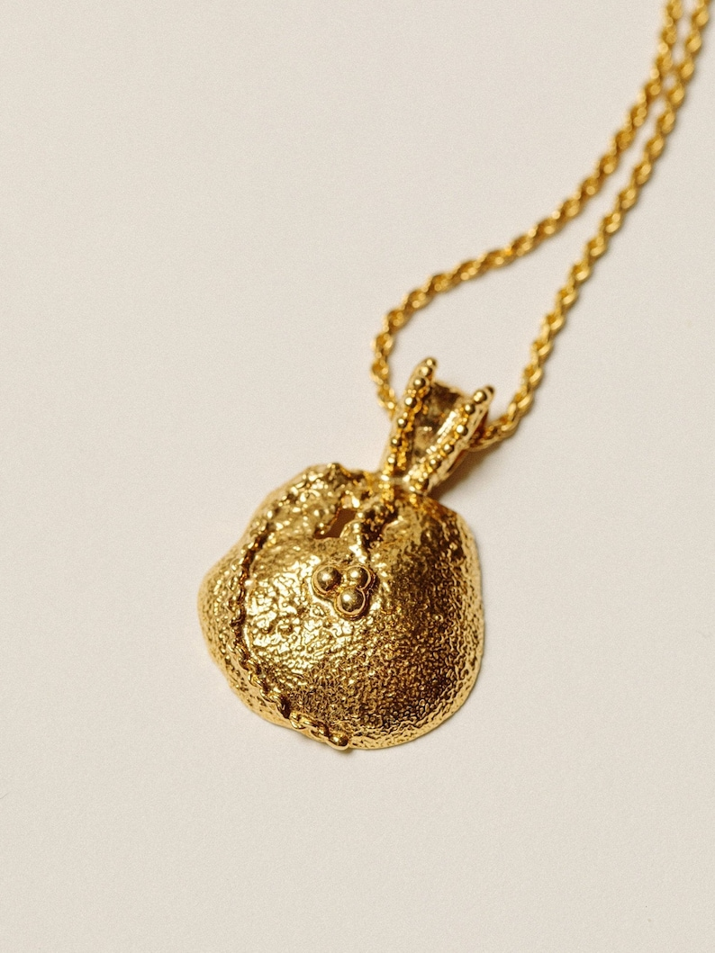 24K Gold Plated Necklace Pamela Card Gold Coin Necklace Anniversary Gift The Gilded Chancel Necklace Roman Coin Necklace Gifts For Her