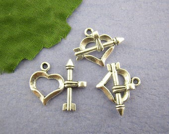 1 heart and arrow Silver Clasp old