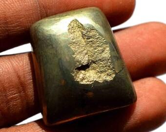 Wholesale Price G17322 Loose Cabochon 90 Carat Natural Pyrite Druzy Gemstone Cabochon Apache Gold Cabochon Oval Shape