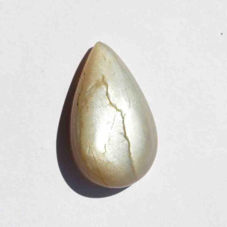Craft Supplies 52 Carat Natural Grey Moonstone Gemstone Cabochon G24584 Pear Shape Moonstone Loose Cabochon