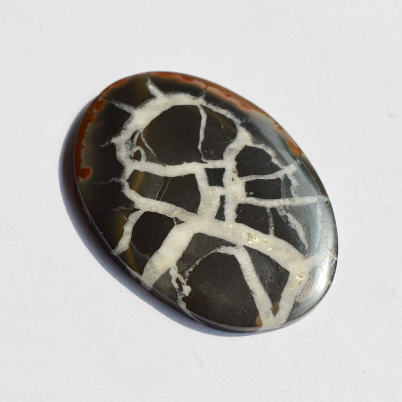 Wholesale Supplies Jewelry Making 42 Carat AAA Quality Septarian Cabochon Oval Shape Natural Septarian Gemstone G11962