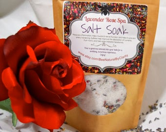 HERBAL SALT SOAK. Herbal Bath Soak. Homemade Lavender Bath Salts. Rose Bath Salts. Bath Tea. Detoxing Bath.Foot Wash.Muscles Relaxer