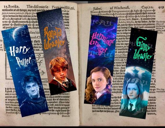Set De 4 Separadores Digitales Harry Potter Personajes Etsy
