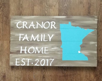 Minnesota  personalized home sign