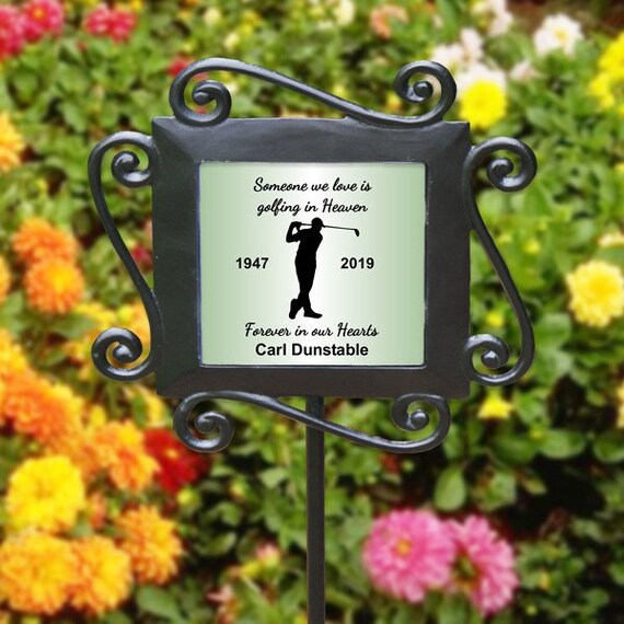 Personalized Forever in our Hearts Angel Wings Memorial Flag Tree// Flower Marker
