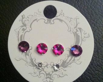 Swarovski Xilion/Xirius rose design earrings