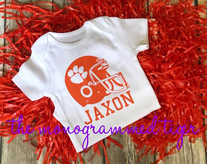 Clemson football bodysuit, Clemson football t shirt,