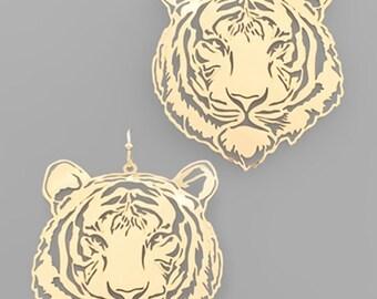 Tiger Filigree Earrings