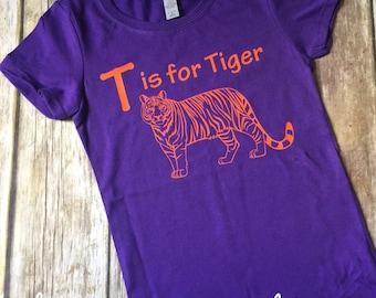 T is for Tiger, perfect for little Tiger fans