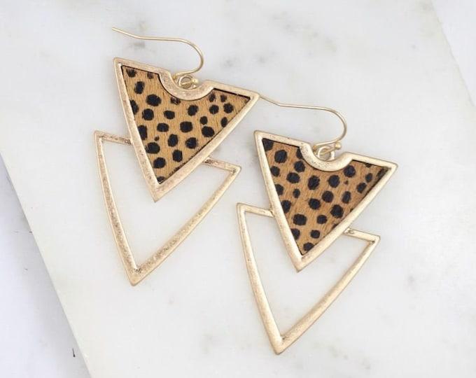 Double drop geometric earring
