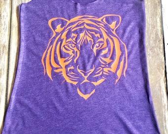 Tiger face tank top