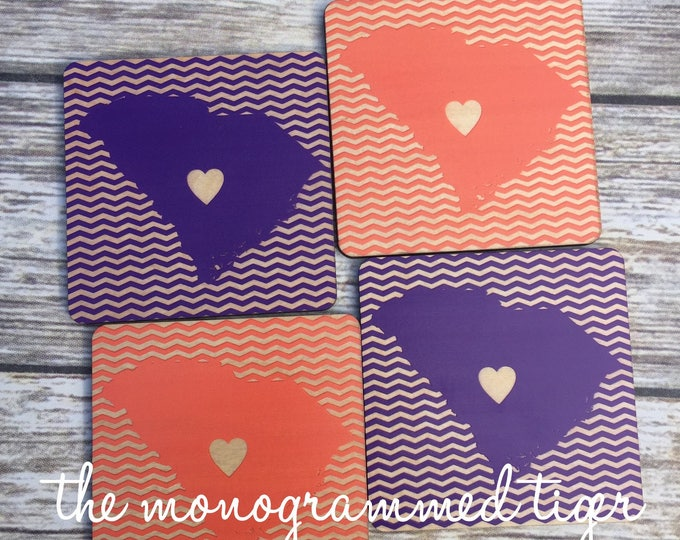 Orange and Purple Coasters
