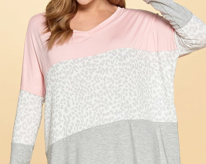 Pink and grey  top