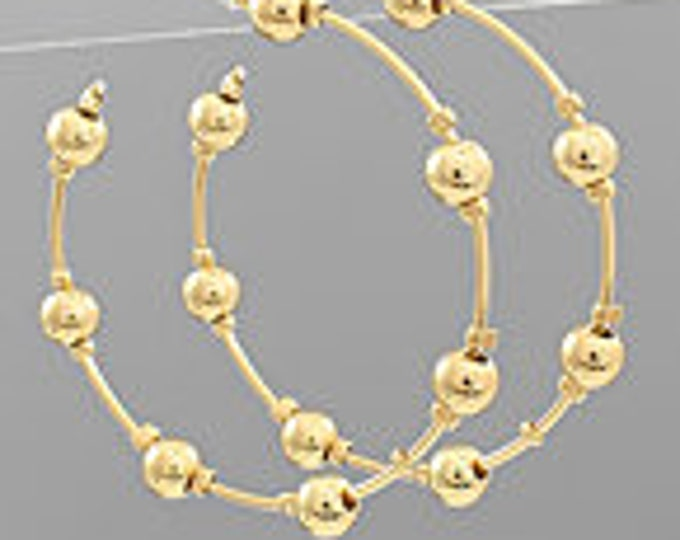 Metal Ball Stationed Hoops
