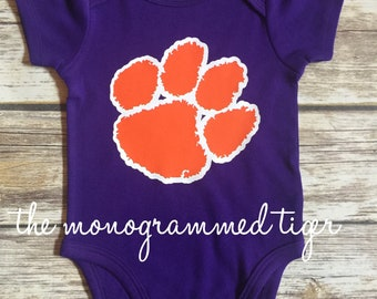 Clemson bodysuit perfect for your little tiger,