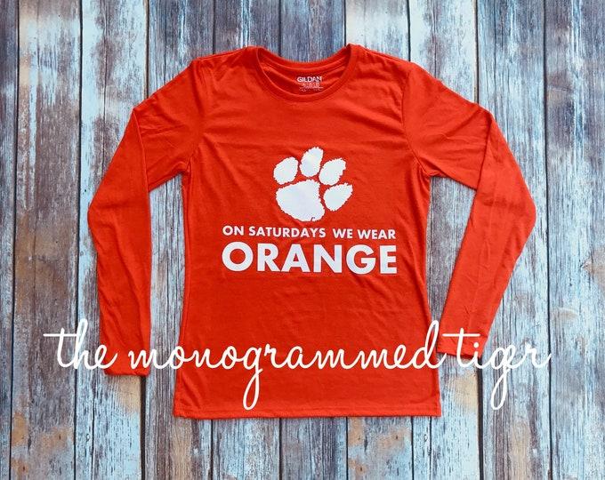 On Saturdays we wear orange