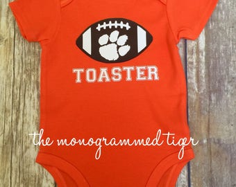 Clemson football personalized bodysuit