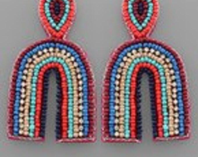 Beaded Arch Earrings
