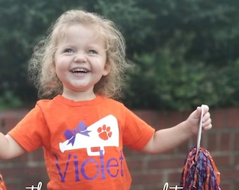 Personalized Clemson shirt, tiger girl, Clemson shirt, game day shirt, tiger shirt