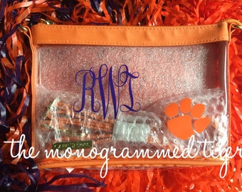 Clemson Tiger cross body stadium bag