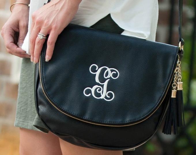 Sienna Crossbody vegan leather bag, vegan leather, crossbody vegan leather, personalized crossbody, monogrammed crossbody