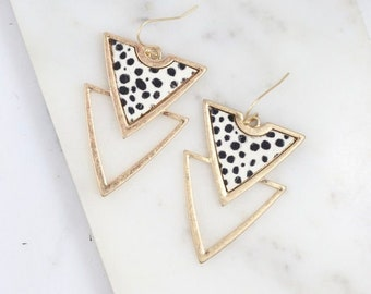 Double drop geometric earring