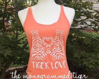 Tiger love tank top