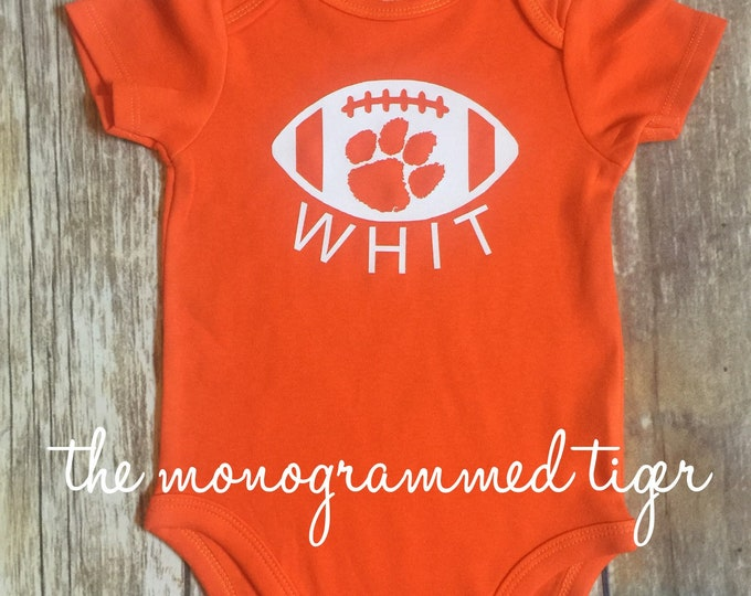 Clemson football bodysuit, Clemson football toddler shirt, Clemson footbal youth shirt