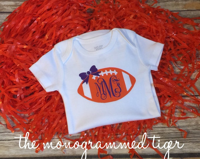 Clemson Tiger football bodysuit perfect for the newest Tiger in your life