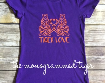 Tiger Love Youth Shirt, Clemson Tiger Love