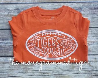 Personalized Clemson shirt, tiger girl, Clemson shirt, game day shirt, tiger shirt