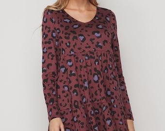 Wine and Black Cheetah dress