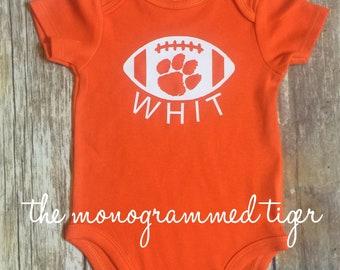 Clemson football bodysuit, Clemson football toddler shirt, Clemson footbal youth shirt