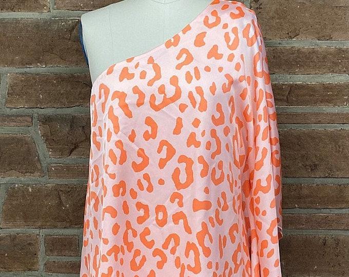 Orange cheetah one sleeve top