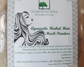 Ayurvedic hair mask herbal powders hair growth hair loss marshmallow lotus amla neem bhringraj horsetail oatstraw aloe vera rose methi