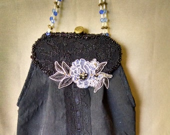 Edwardian style silk purse
