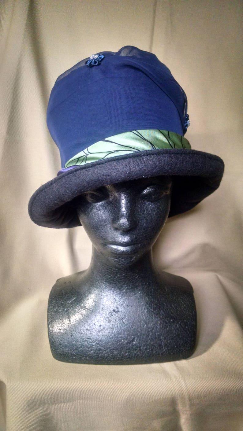 4a65c77ad5581 1920's hat, Edwardian hat, Flapper hat, bucket hat, Bohemian hat