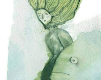 Illustrated Card - Grindylow