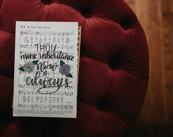 Handlettered hymns