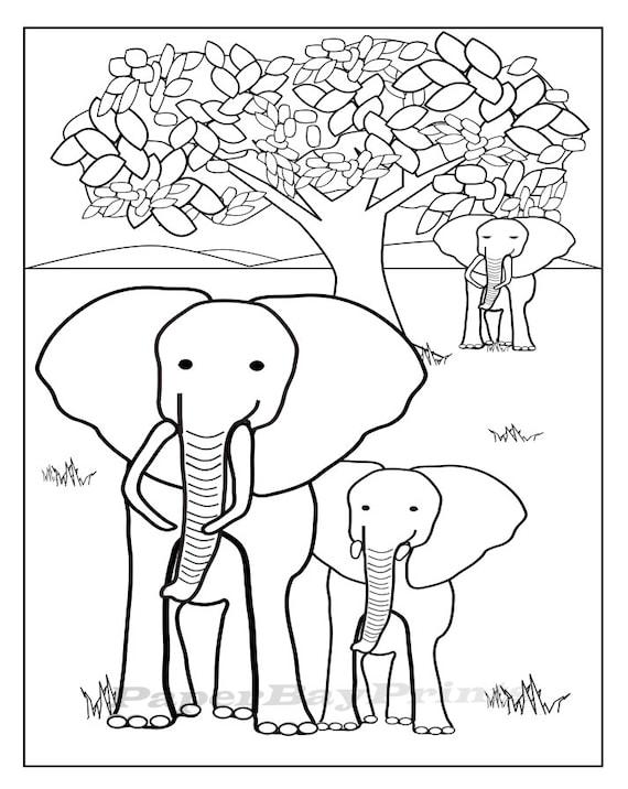 Elefant Zeichnen Zum Ausdrucken Malvorlagen Fur Kinder Bild Etsy
