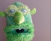 Green Man hand puppet pro...