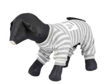 Striped friendship dog pajamas