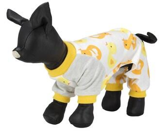 Printed dog pajamas