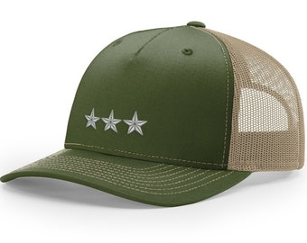 01cc8a68 Army O-9 Lieutenant General Rank Embroidered Richardson Hat