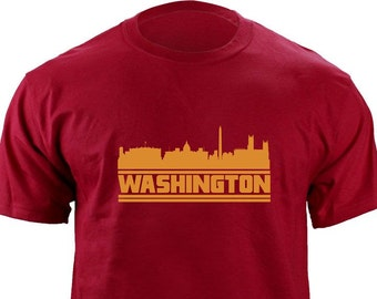 Original Washington DC Skyline Football Team Colors T-Shirt 6025a9e31